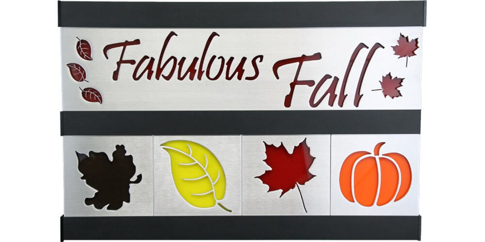 Fabulous Fall & Leaves 2 Row w/Black Frame