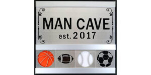 Man Cave Sports 2 Row w/Silver Frame