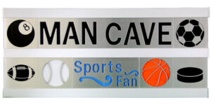Man Cave/Sports Fan 2 Row w/Silver Frame
