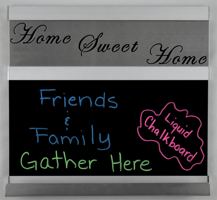 home sweet home chalkboard small silver frame metal signs and