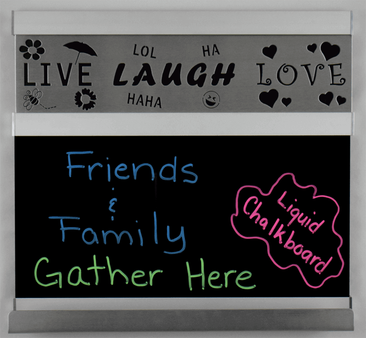 Live, Laugh, Love Chalkboard – Small – Silver Frame – Metal Signs ...