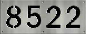 MS250-00042-0820 [4 Digit Address Sign – Block]