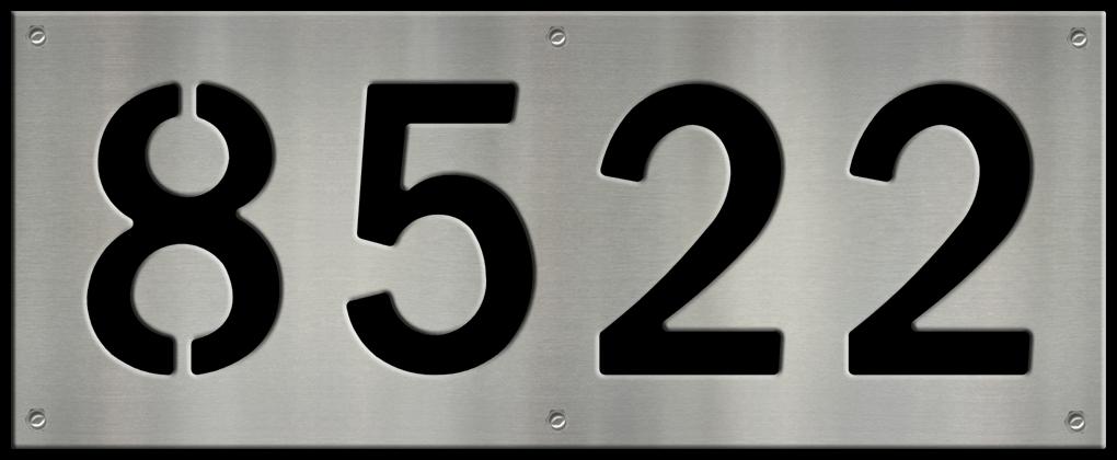 MS250-00042-0820 [4 Digit Address Sign – Block] BP