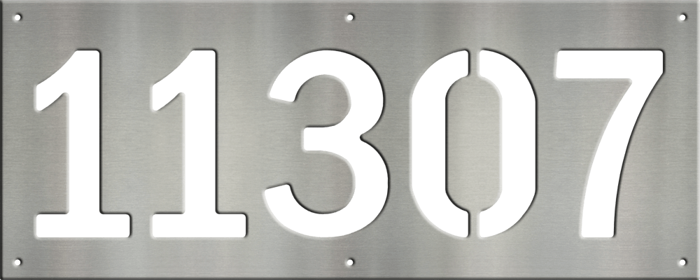 MS250-00043-0820 [5 Digit Address Sign – Block]