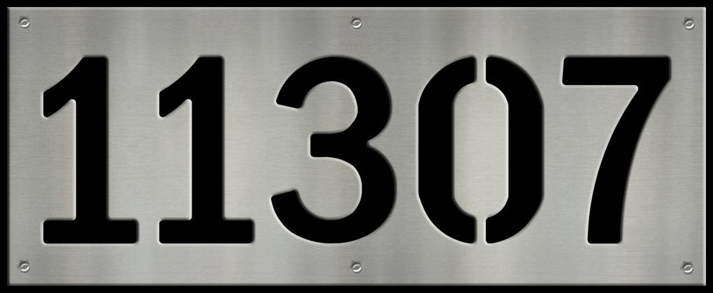 MS250-00043-0820 [5 Digit Address Sign – Block] BP