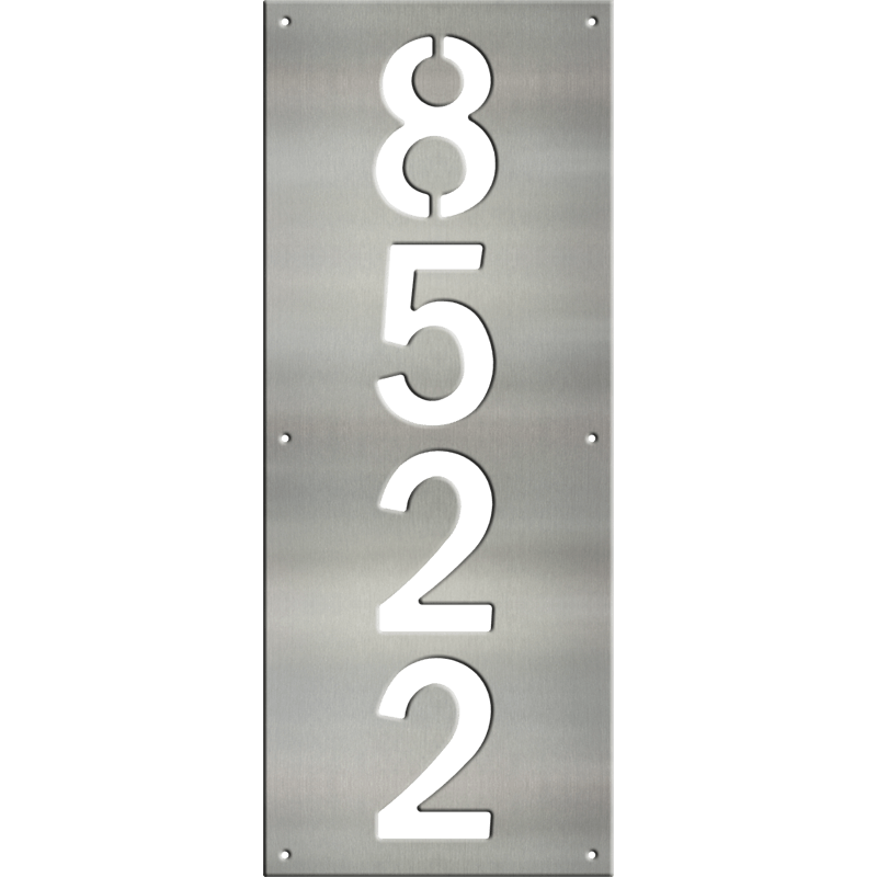 MS250-00044-0820 [Vertical 4 Digit Address Sign – Block] WB