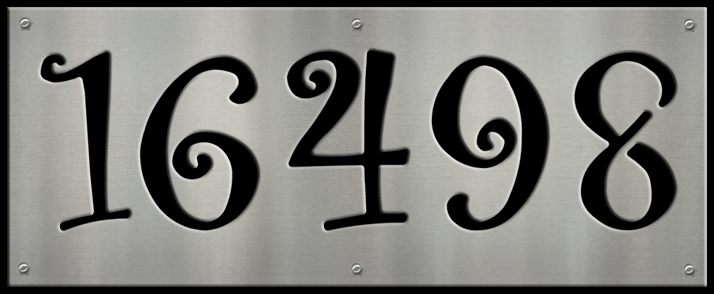 MS250-00064-0820 [5 Digit Address Sign – Curly] BP