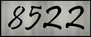 MS250-00069-0820 [4 Digit Address Sign – Fancy] BP