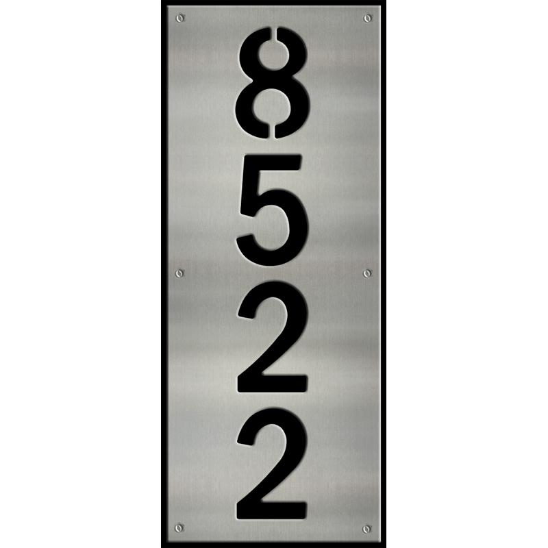 MS250-00044-0820 [Vertical 4 Digit Address Sign – Block] BPWB