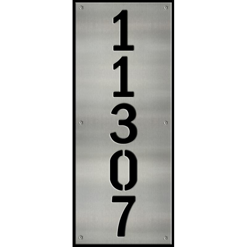 MS250-00045-0820 [Vertical 5 Digit Address Sign – Block] BPWB
