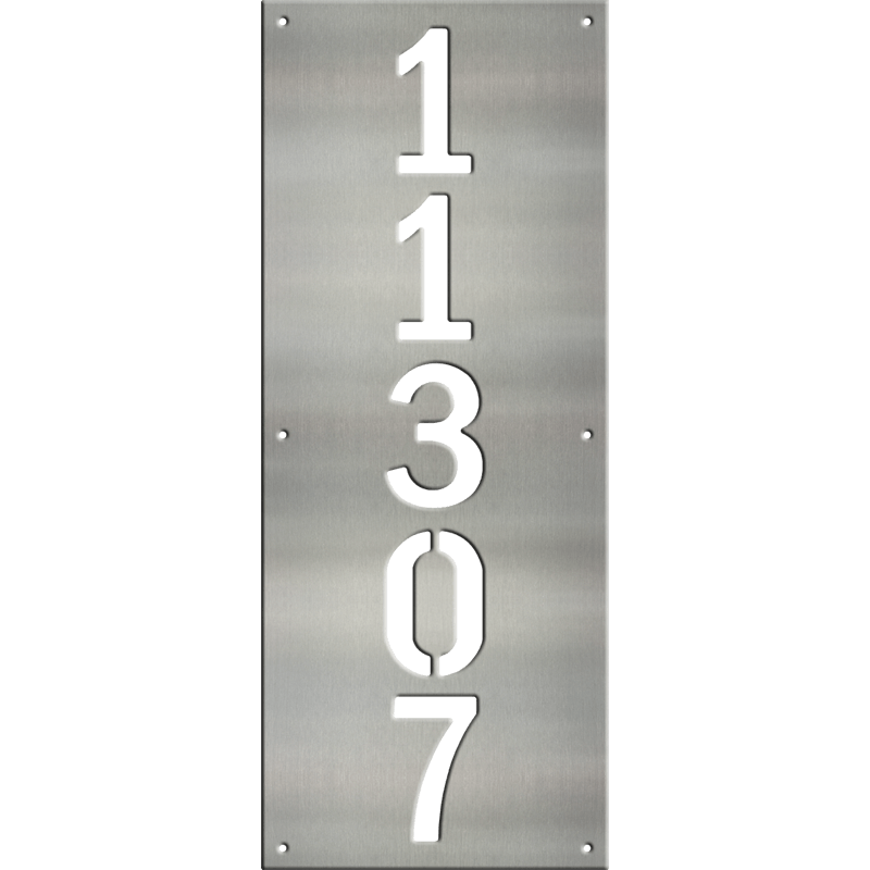MS250-00045-0820 [Vertical 5 Digit Address Sign – Block] WB